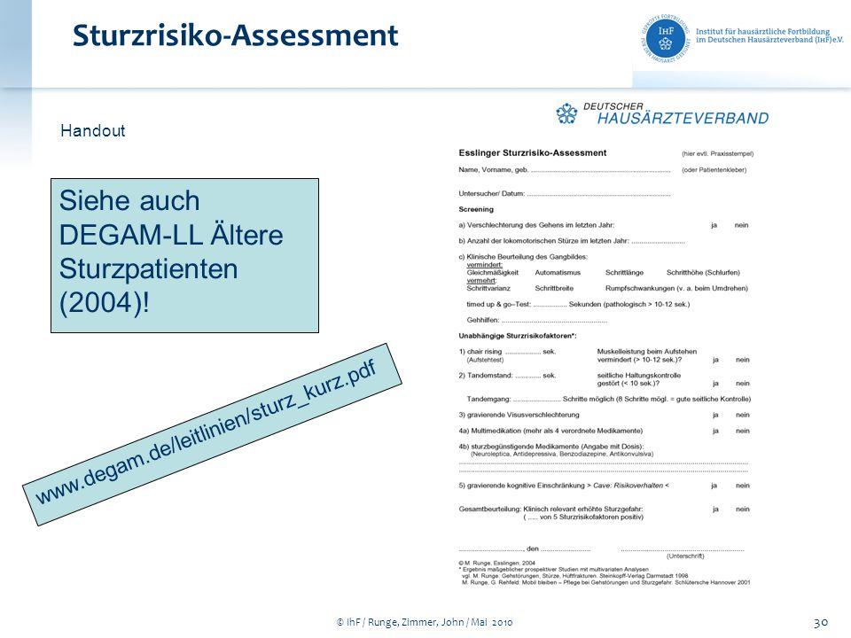 Sturzrisiko-Assessment