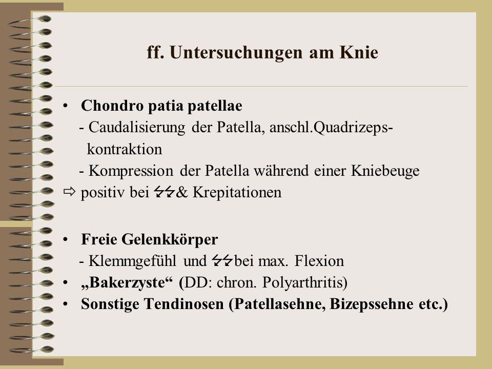 ff. Untersuchungen am Knie