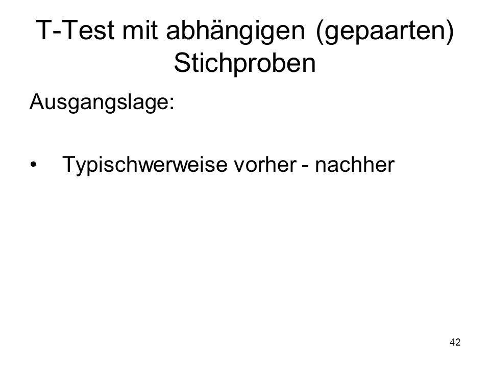 T-Test mit abhängigen (gepaarten) Stichproben