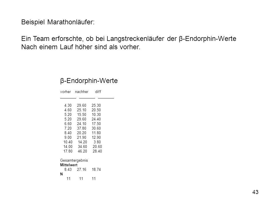 Beispiel Marathonläufer: