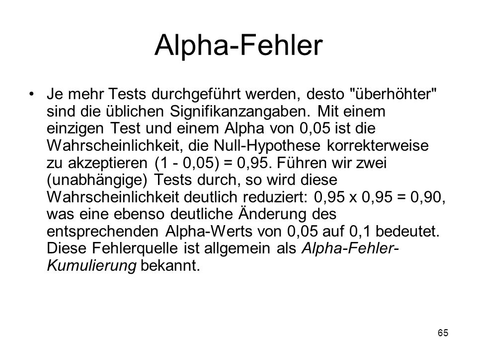 Alpha-Fehler
