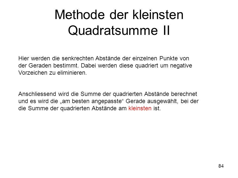 Methode der kleinsten Quadratsumme II