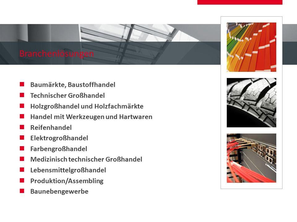 Branchenlösungen Baumärkte, Baustoffhandel Technischer Großhandel