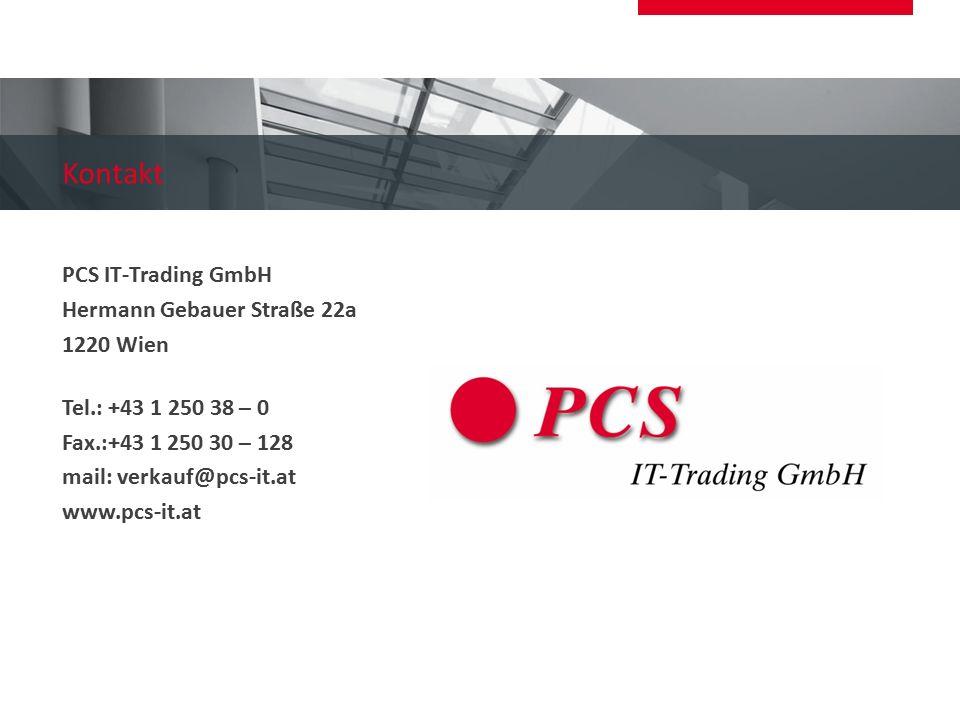 Kontakt PCS IT-Trading GmbH Hermann Gebauer Straße 22a 1220 Wien