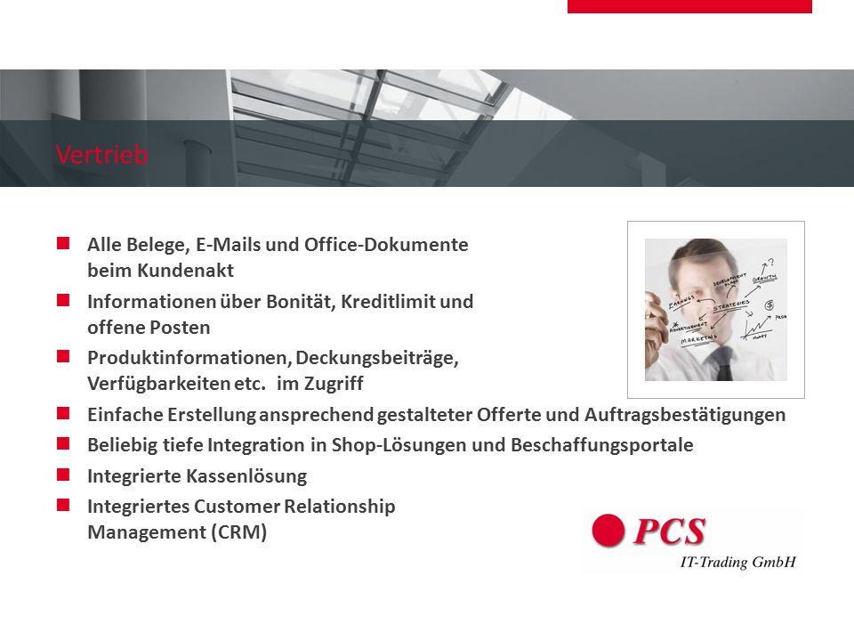 Vertrieb Alle Belege, E-Mails und Office-Dokumente beim Kundenakt