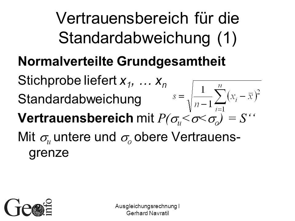 Vertrauensbereich für die Standardabweichung (1)