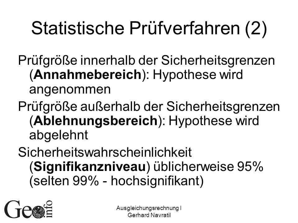 Statistische Prüfverfahren (2)