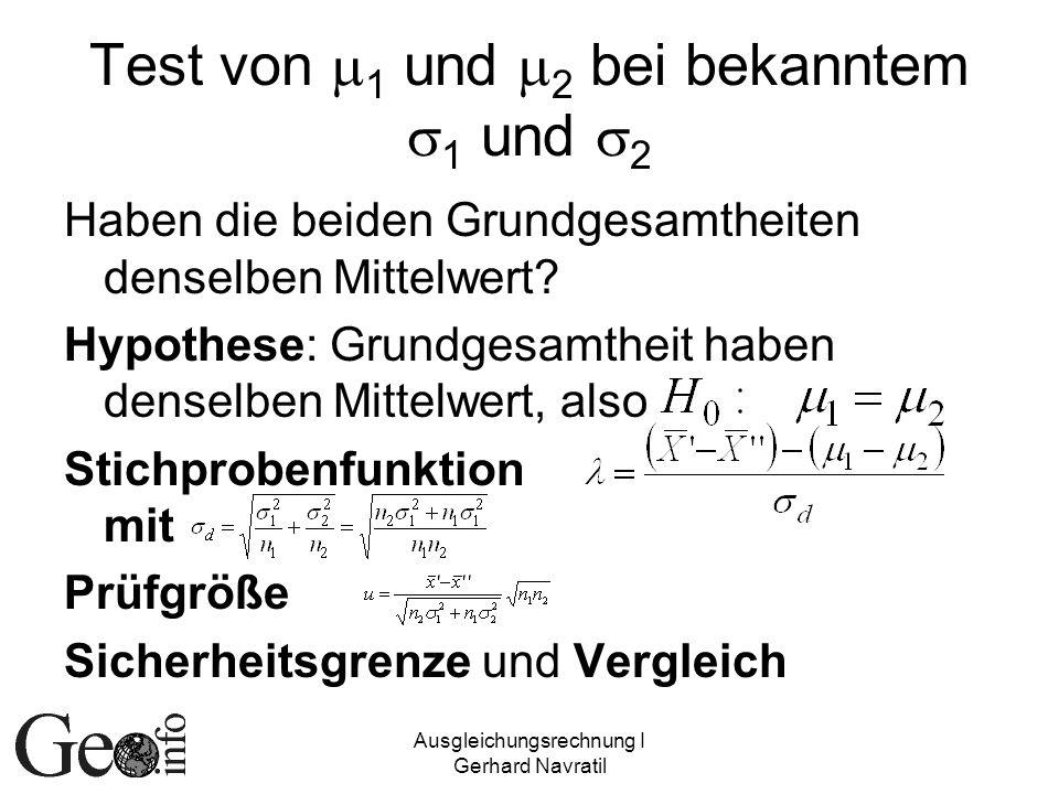 Test von m1 und m2 bei bekanntem s1 und s2