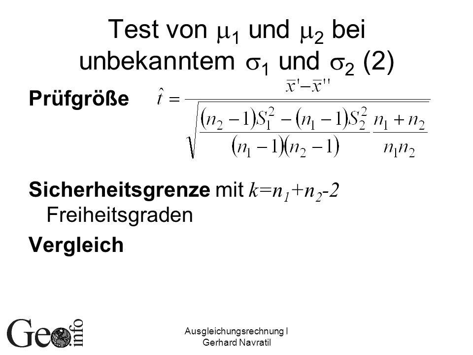 Test von m1 und m2 bei unbekanntem s1 und s2 (2)