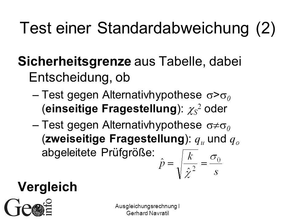 Test einer Standardabweichung (2)