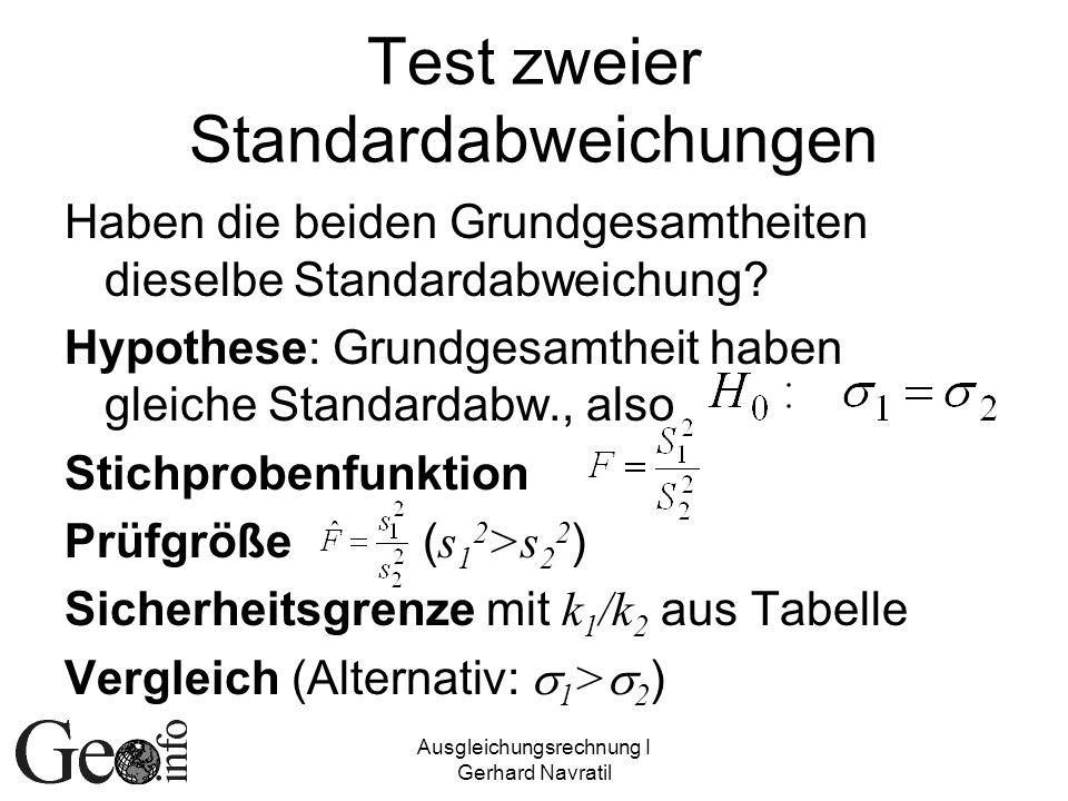 Test zweier Standardabweichungen