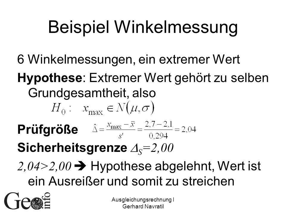 Beispiel Winkelmessung