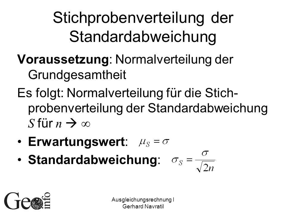 Stichprobenverteilung der Standardabweichung