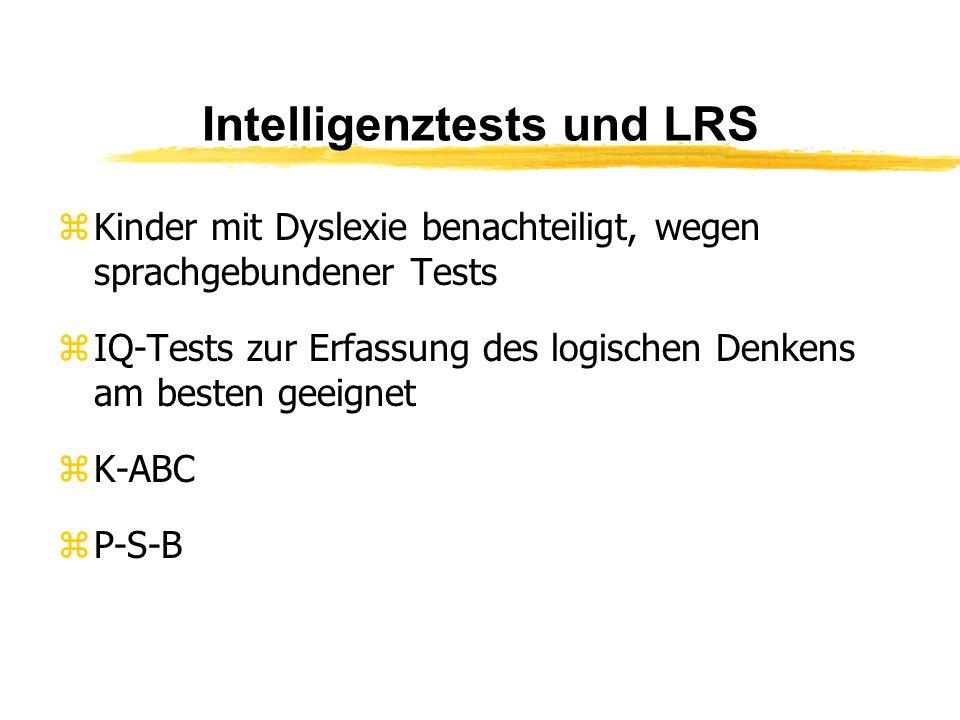Intelligenztests und LRS
