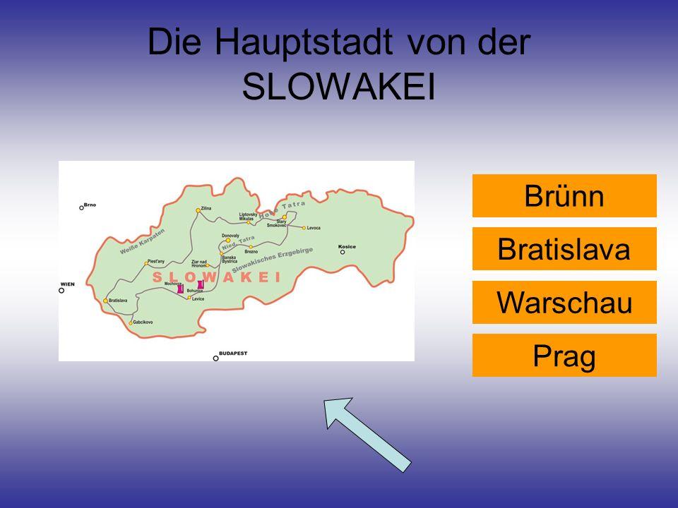 Die Hauptstadt von der SLOWAKEI