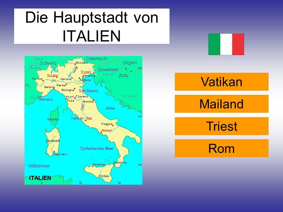 Die Hauptstadt von ITALIEN