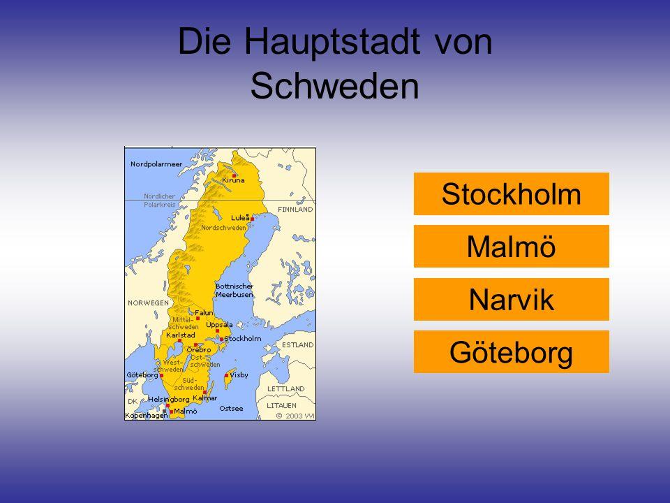 Die Hauptstadt von Schweden
