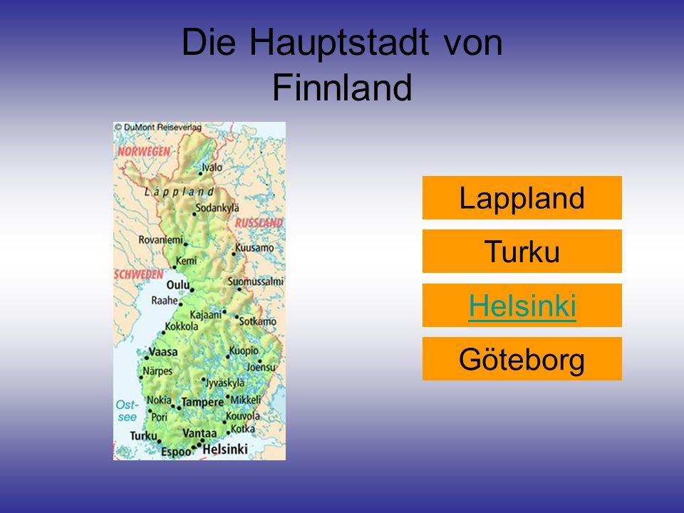 Die Hauptstadt von Finnland