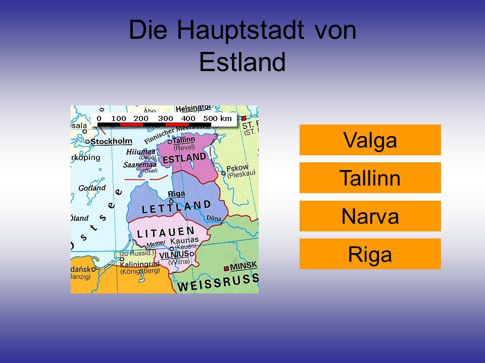 Die Hauptstadt von Estland