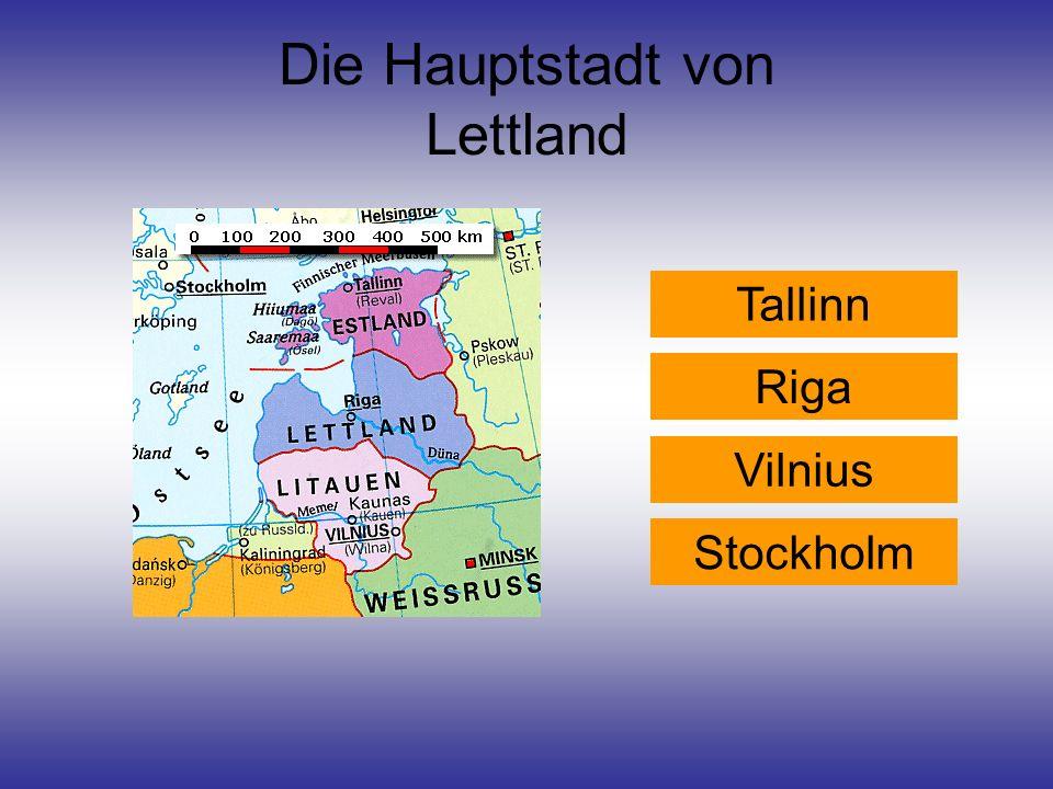 Die Hauptstadt von Lettland
