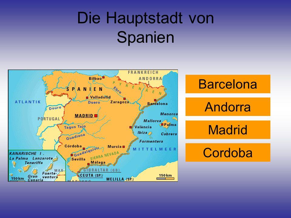 Die Hauptstadt von Spanien