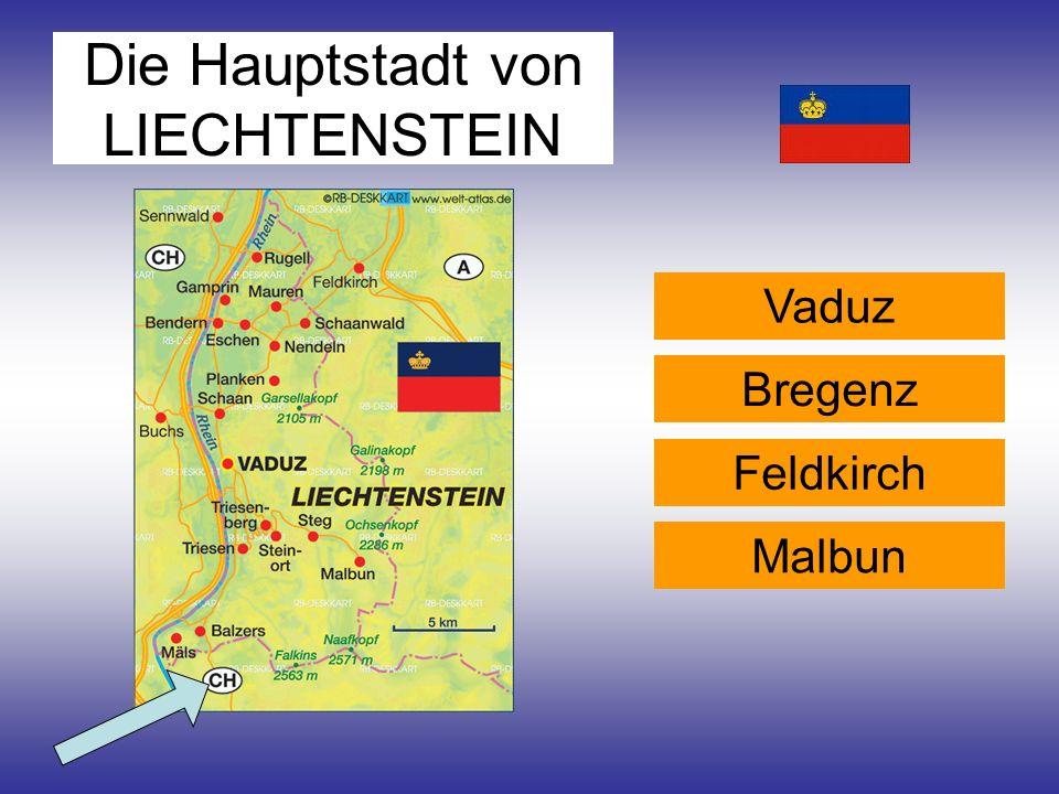 Die Hauptstadt von LIECHTENSTEIN