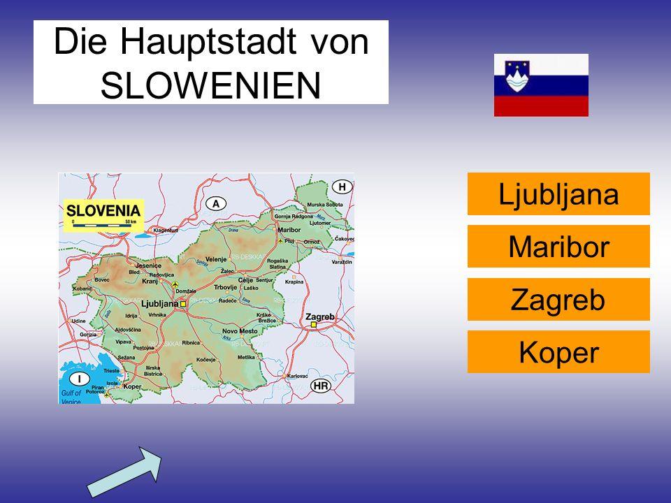 Die Hauptstadt von SLOWENIEN