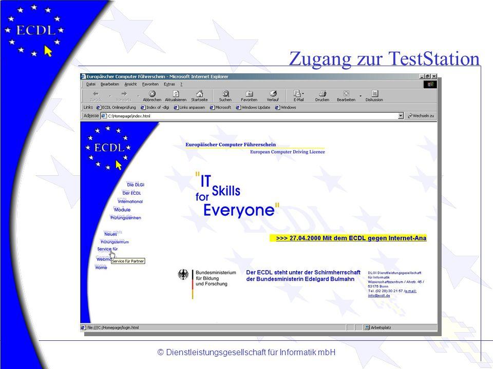 Zugang zur TestStation