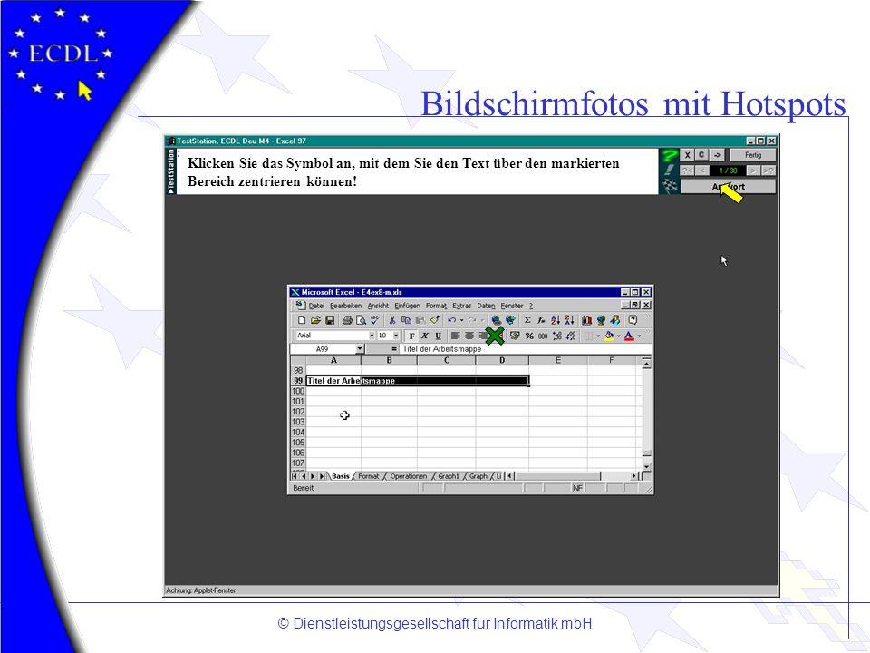 Bildschirmfotos mit Hotspots