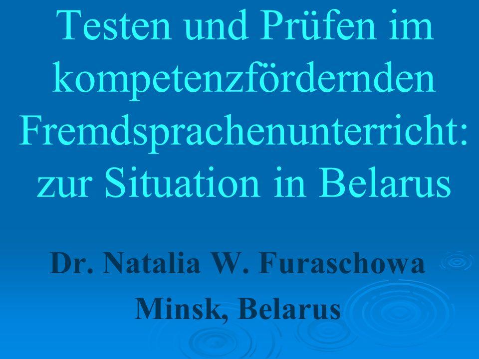 Dr. Natalia W. Furaschowa Minsk, Belarus