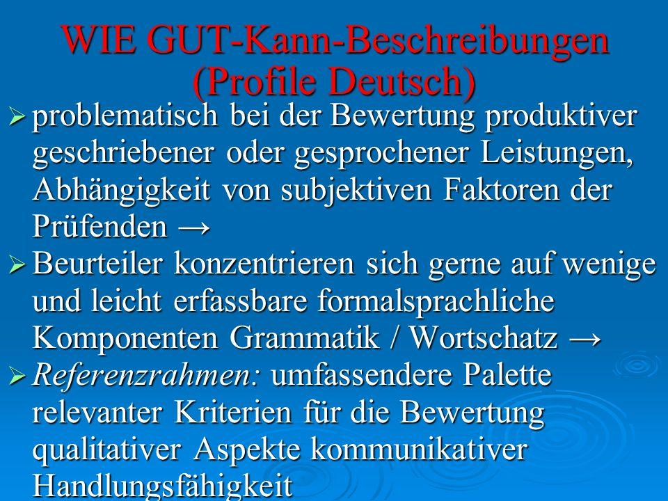 WIE GUT-Kann-Beschreibungen (Profile Deutsch)