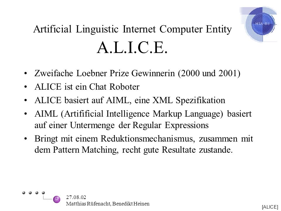 Artificial Linguistic Internet Computer Entity A.L.I.C.E.