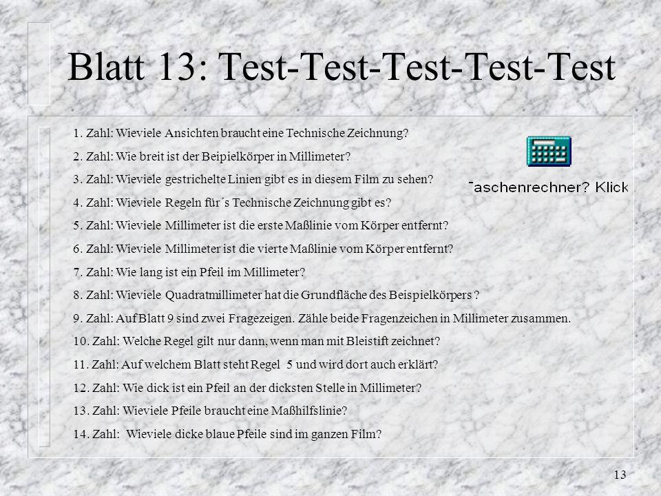 Blatt 13: Test-Test-Test-Test-Test