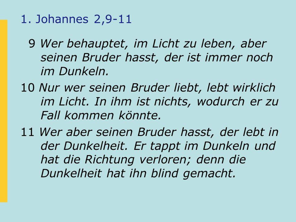 1. Johannes 2,9-11