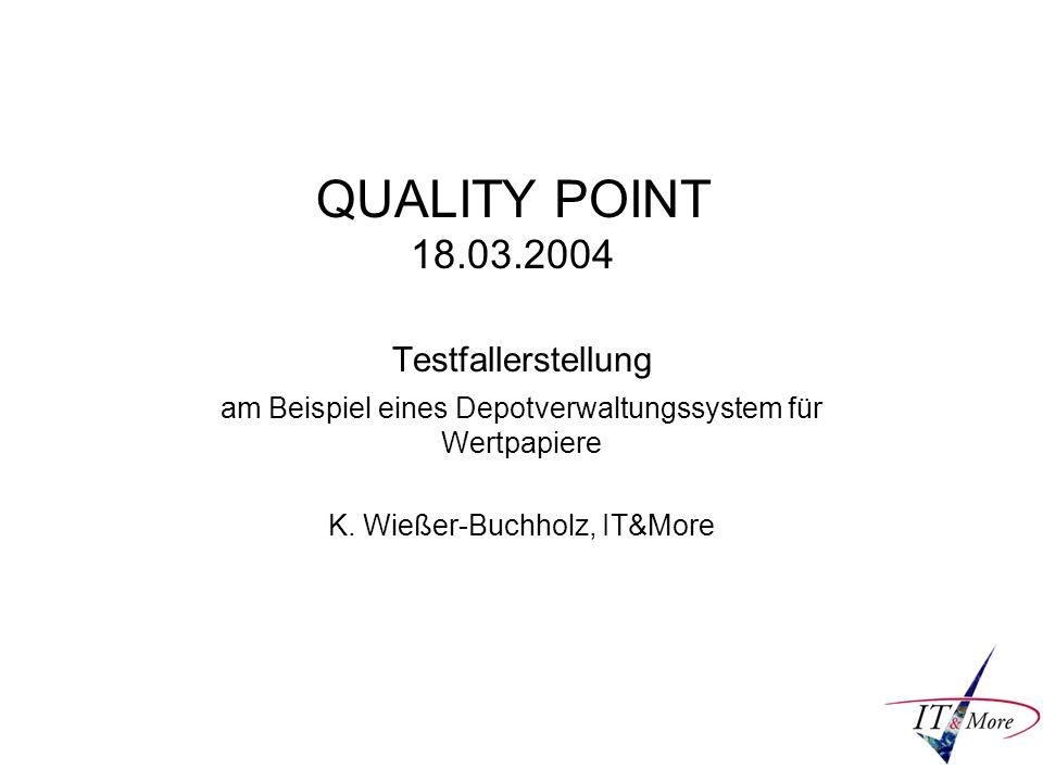 QUALITY POINT 18.03.2004 Testfallerstellung