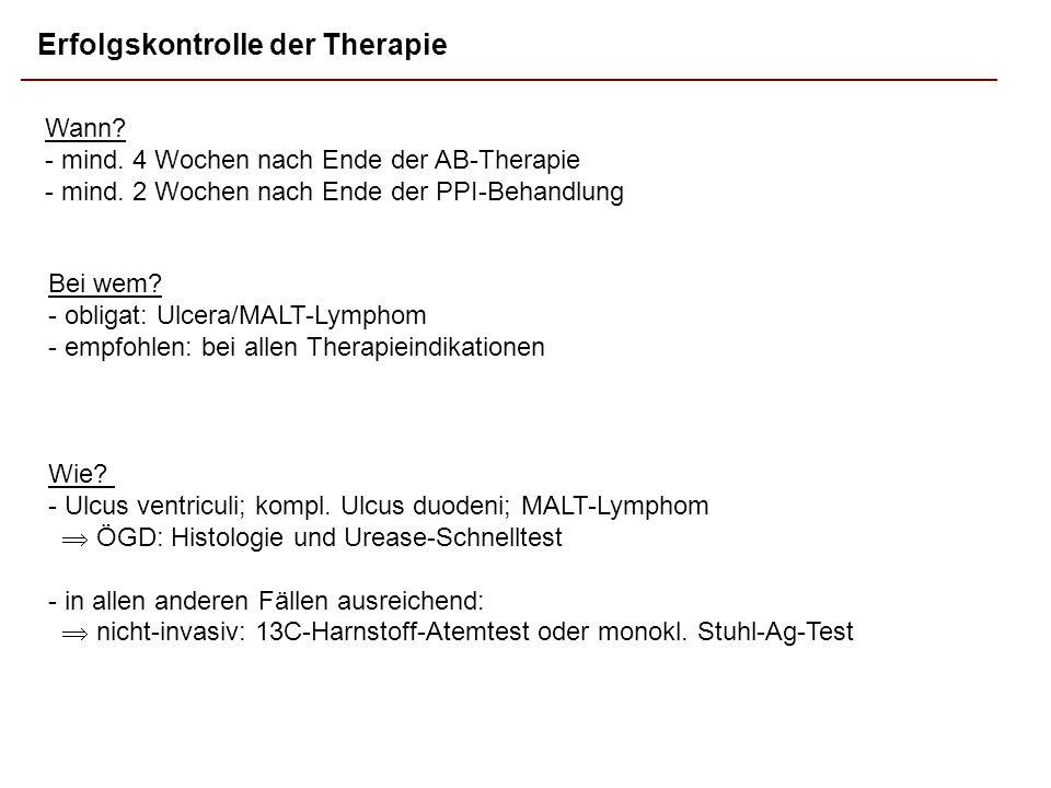 Erfolgskontrolle der Therapie