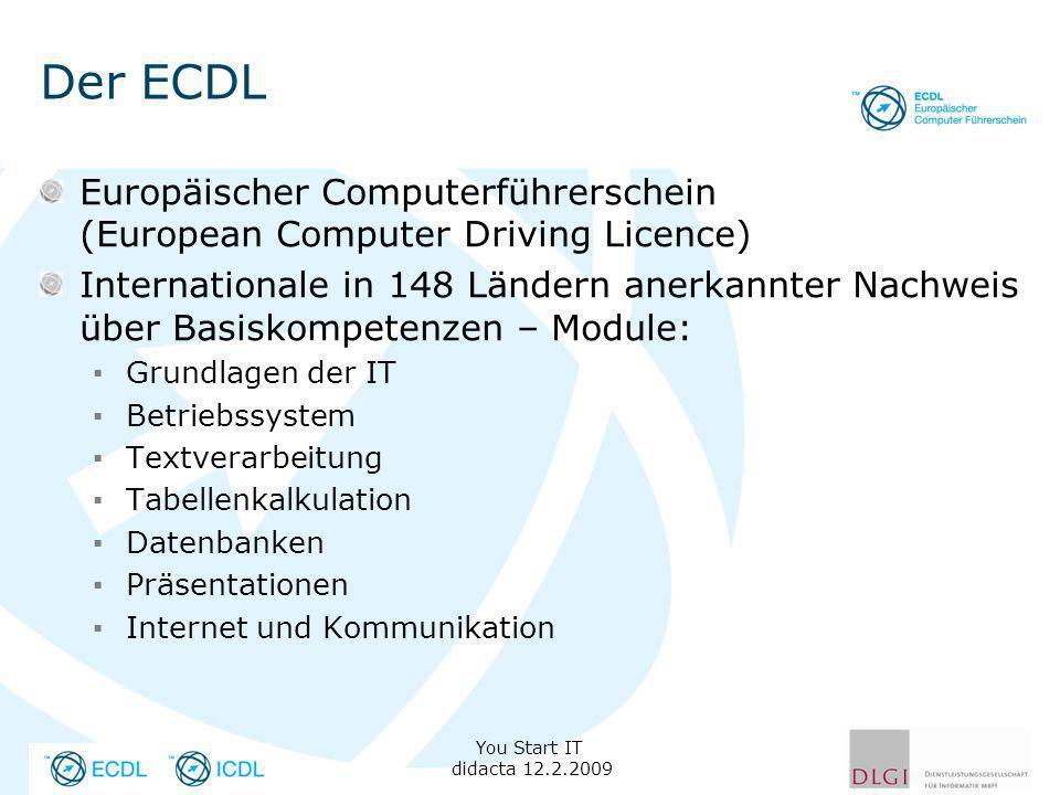 Der ECDL Europäischer Computerführerschein (European Computer Driving Licence)
