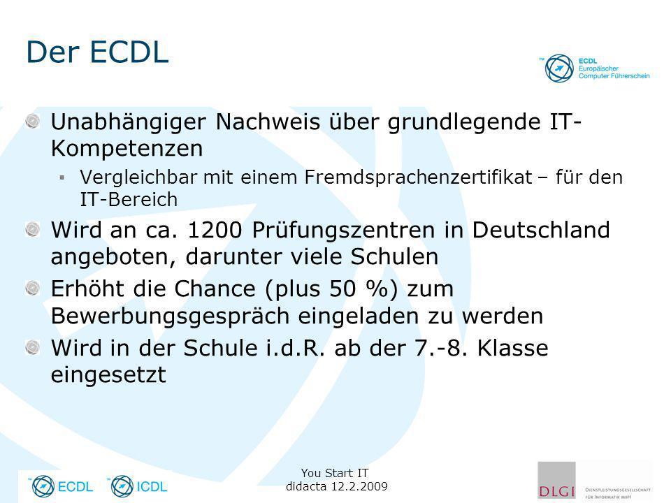 Der ECDL Unabhängiger Nachweis über grundlegende IT-Kompetenzen