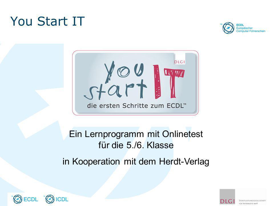 You Start IT Ein Lernprogramm mit Onlinetest für die 5./6. Klasse