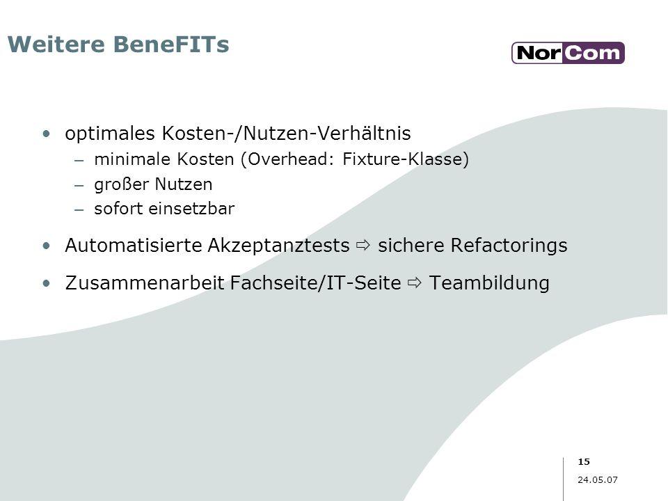 Weitere BeneFITs optimales Kosten-/Nutzen-Verhältnis