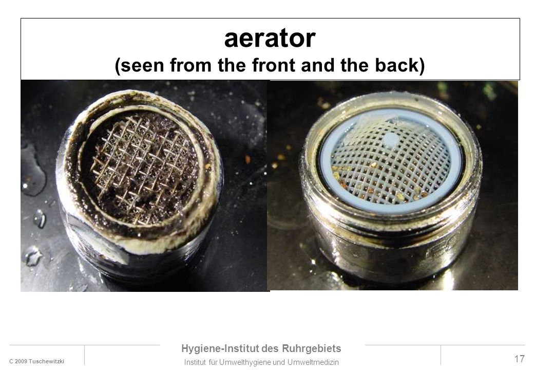 aerator (seen from the front and the back)
