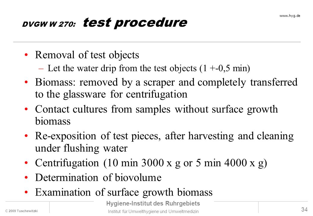 Removal of test objects