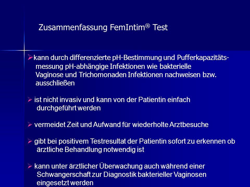 Zusammenfassung FemIntim® Test