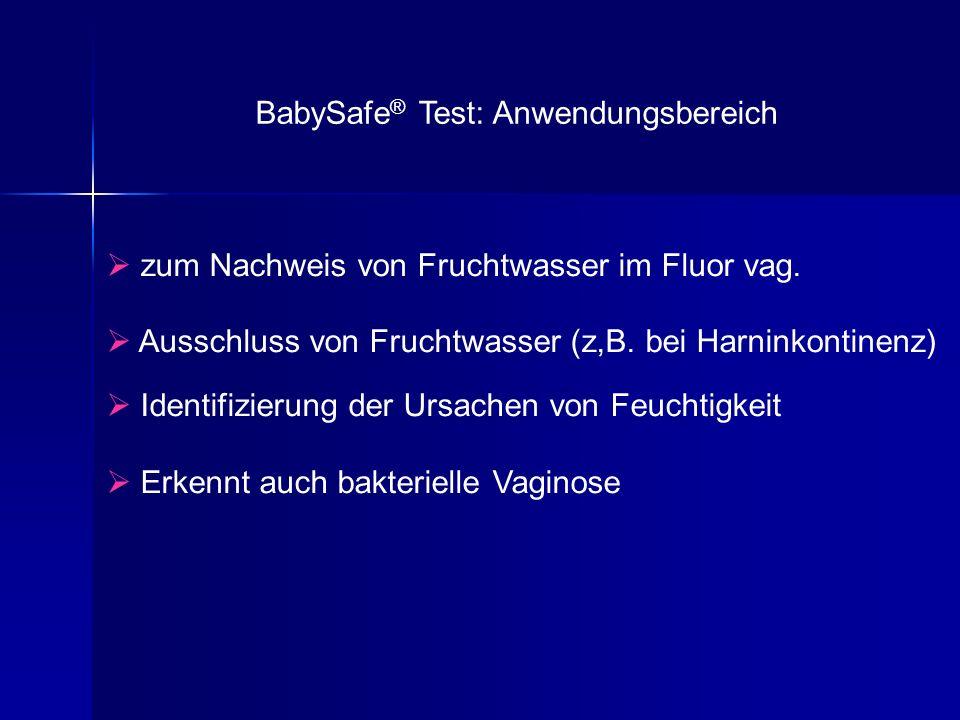 BabySafe® Test: Anwendungsbereich