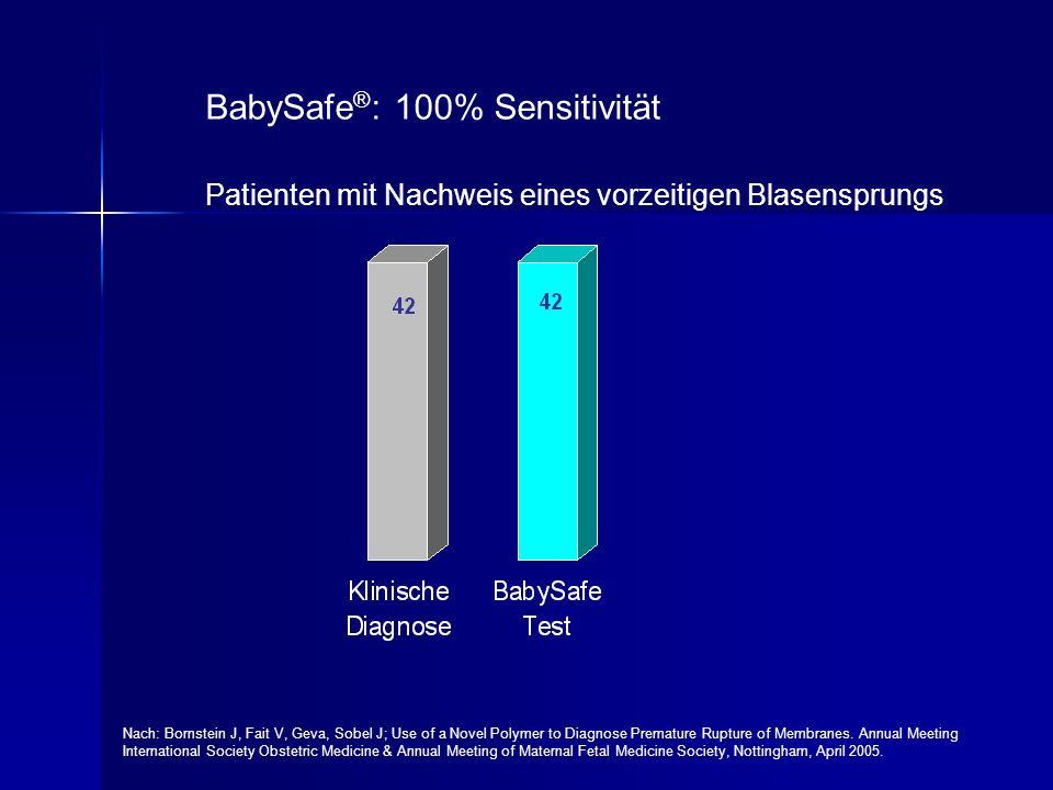 BabySafe®: 100% Sensitivität