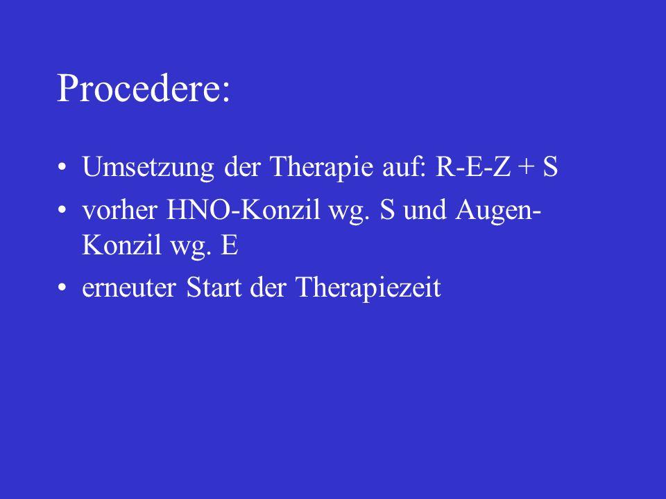 Procedere: Umsetzung der Therapie auf: R-E-Z + S