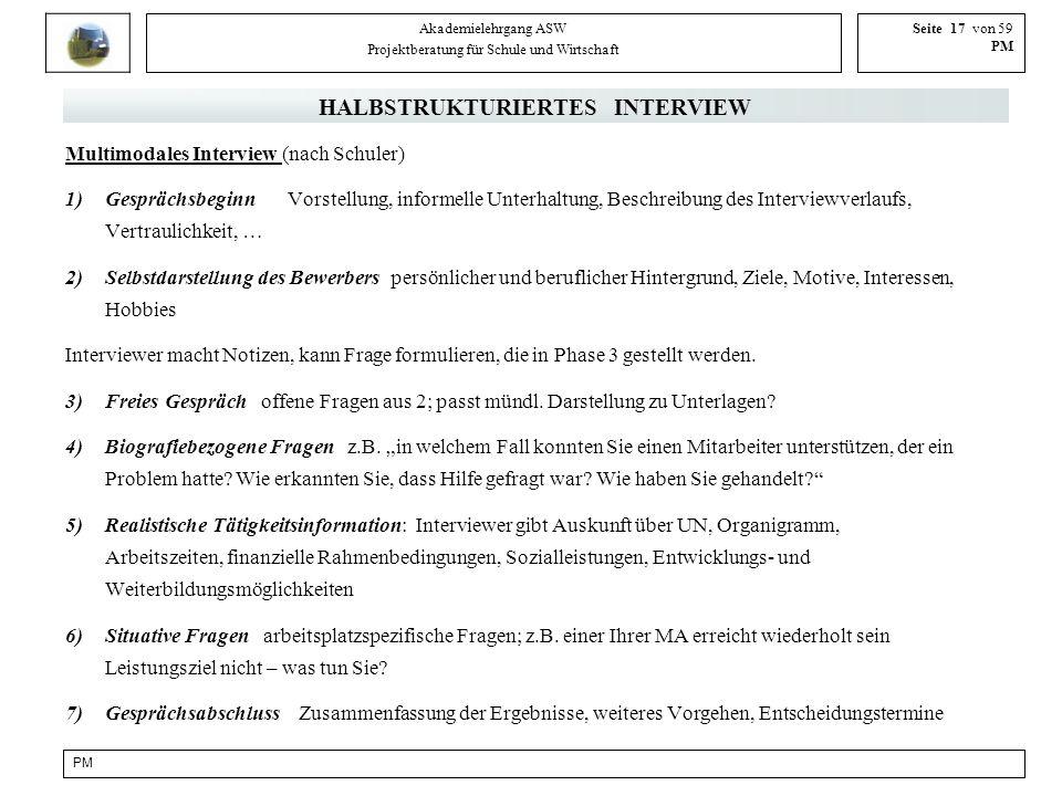 HALBSTRUKTURIERTES INTERVIEW