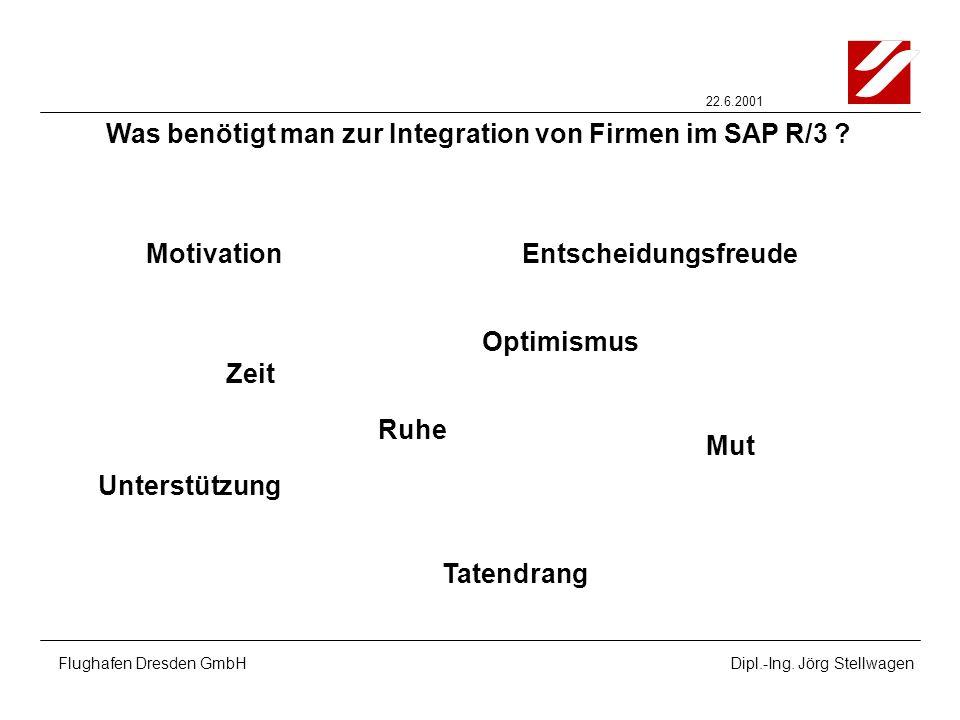 Was benötigt man zur Integration von Firmen im SAP R/3