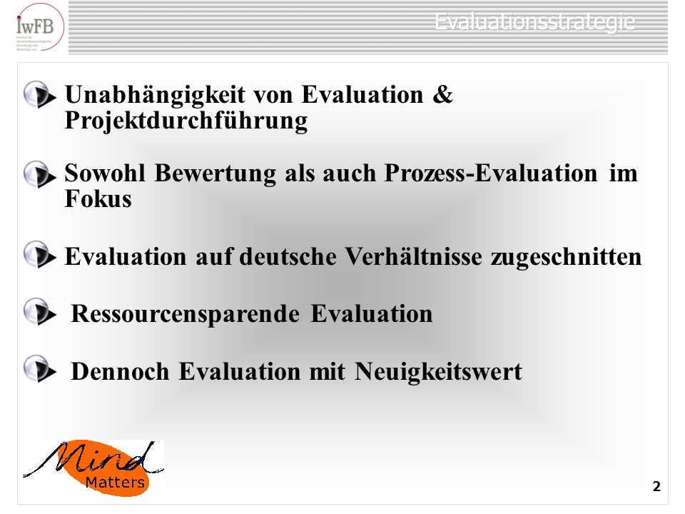 Evaluationsstrategie
