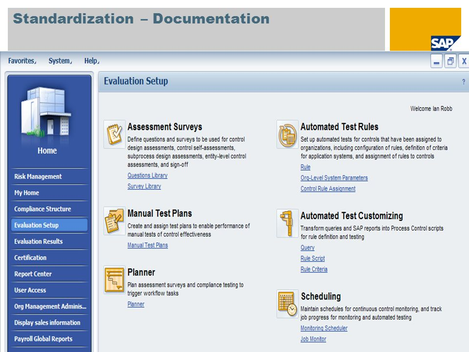 Standardization – Documentation